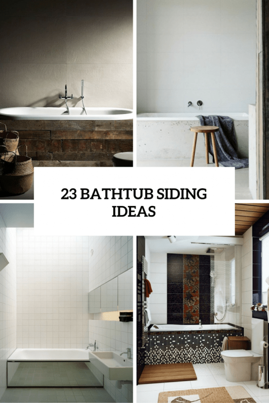 23 ideas to give your bathtub a new look with creative siding - digsdigs