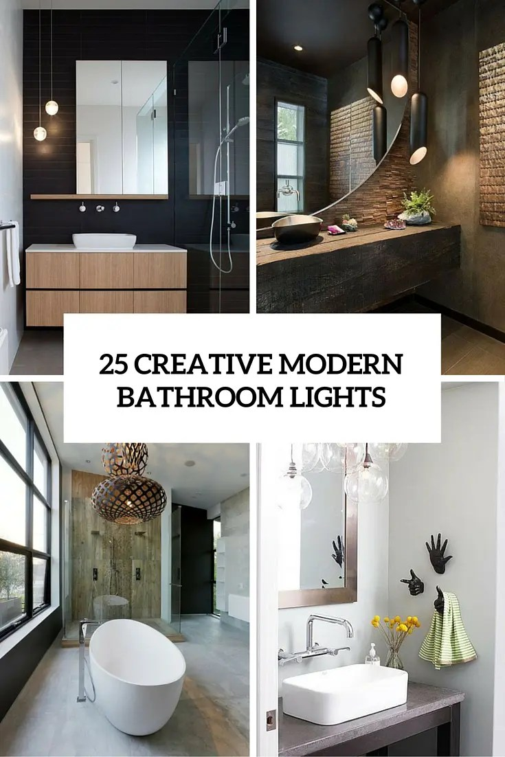 Best Kitchen Gallery: 25 Creative Modern Bathroom Lights Ideas You'll Love Digsdigs of Designer Bathroom Lighting  on rachelxblog.com