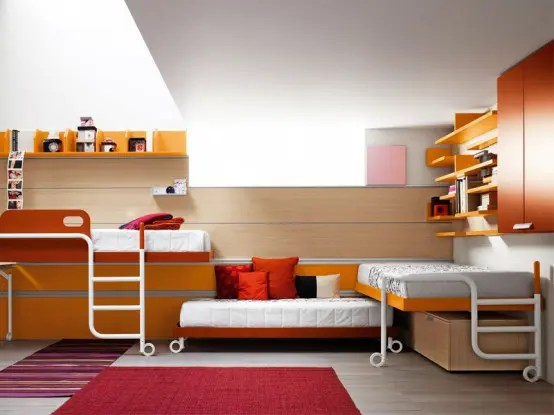 Bright And Ergonomic Furniture For Modern Teen Room By Battistella Industria Mobili DigsDigs