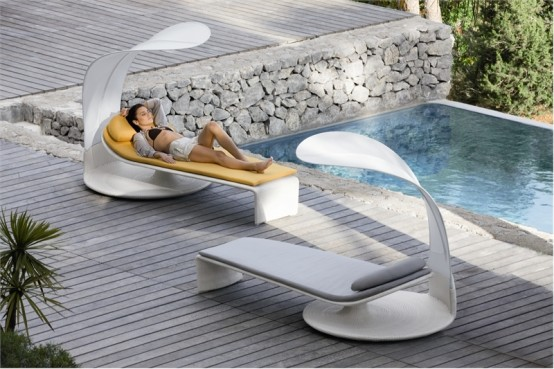 Elegant Outdoor Chaise Lounge Summer Cloud By Dedon