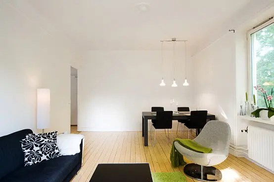 Apartment With Light Wood Floors Painted White Walls Digsdigs Part 81