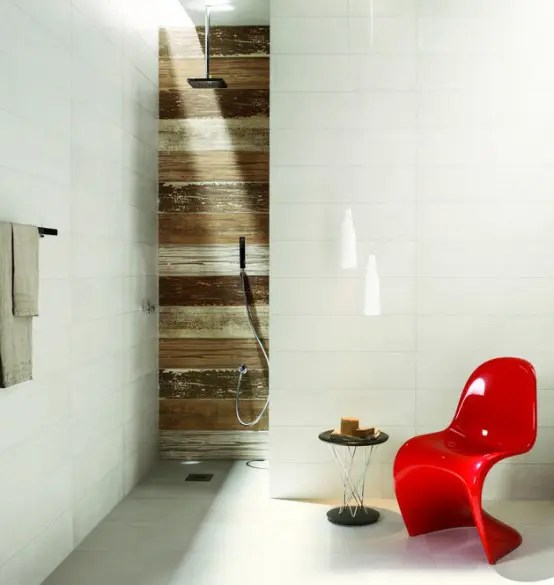 ceramic tiles with a weathered wood