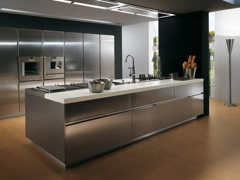 Metal kitchen cabinets
