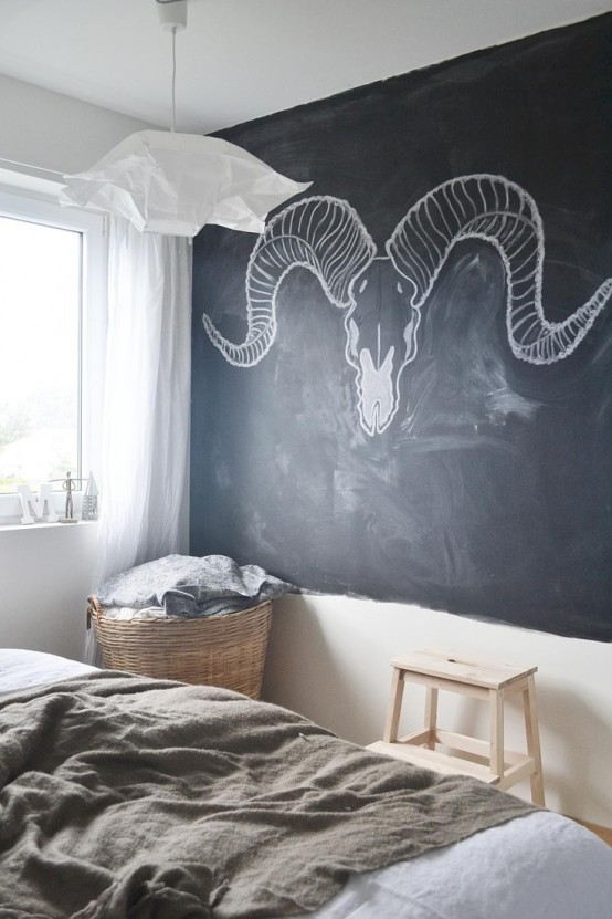 25 Cool Chalkboard Bedroom Dcor Ideas To Rock DigsDigs