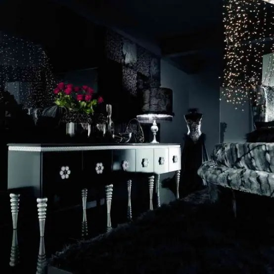 18 Cool Gothic Living Room Designs DigsDigs