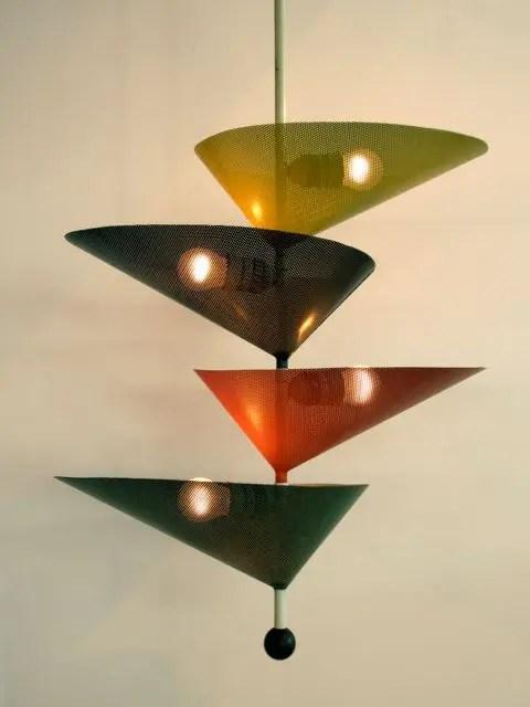 Mid Century Modern Drum Pendant Light