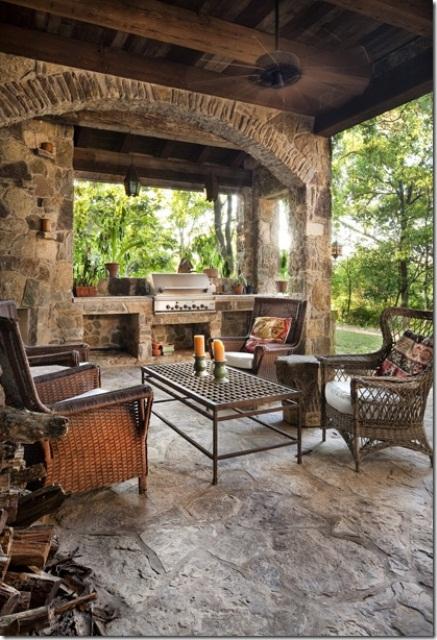 Backyard Patio Kitchen Designs