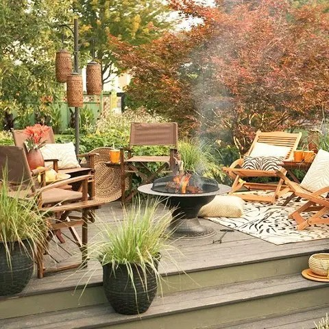 55 cozy fall patio decorating ideas