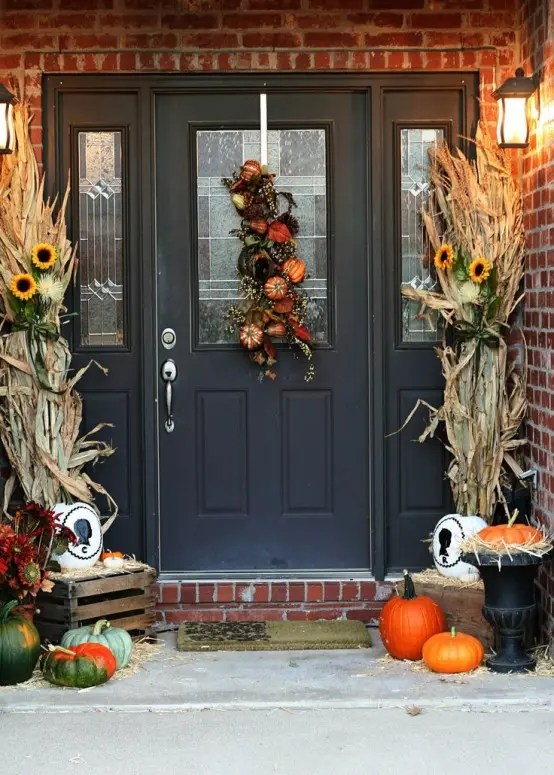 title | Fall Front Door Decor Wood