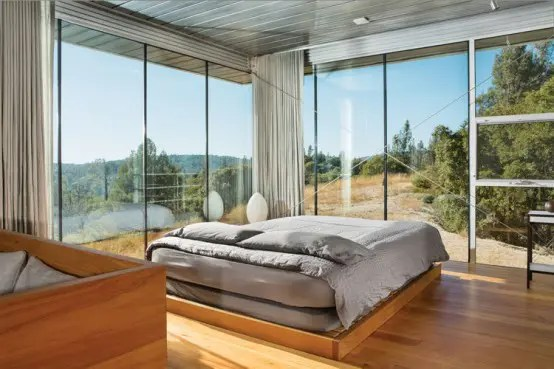 25 daring glass bedroom design ideas - digsdigs