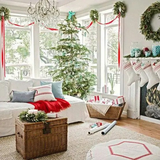 55 Dreamy Christmas Living Room D    cor Ideas   DigsDigs Dreamy Christmas Living Room Decor Ideas
