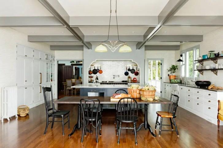 Elegant Cozy Victorian Kitchen Dining Room