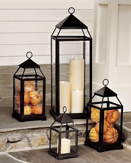 59 Fall Lanterns For Outdoor And Indoor D    cor   DigsDigs To make really beautiful arrangements always use several lanterns in  different sizes