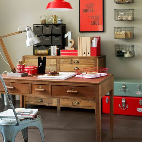 Work In Coziness 20 Farmhouse Home Office Dcor Ideas DigsDigs