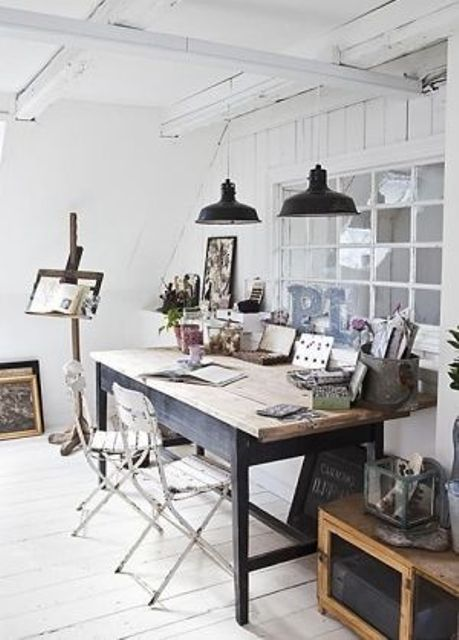 Work In Coziness 20 Farmhouse Home Office Dcor Ideas