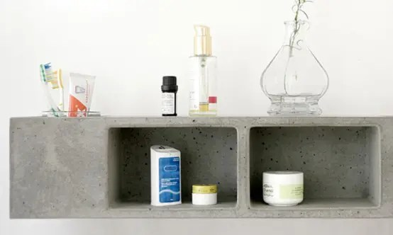 Functional Concrete Bathroom Shelf By Sascha Czerny DigsDigs