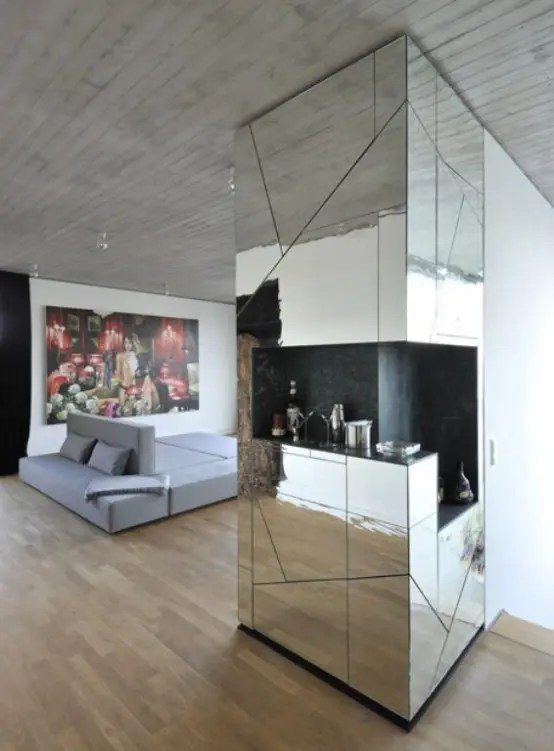 Futuristic Penthouse With Mirror Walls Digsdigs