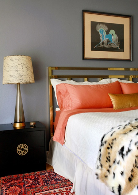 45 Grey And Coral Home Dcor Ideas DigsDigs