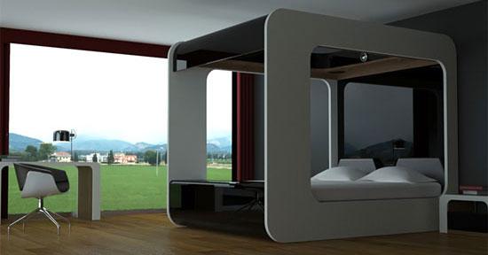 Hi Tech Stylish Italian Bed DigsDigs