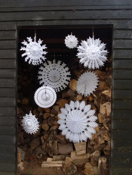 How To Use Snowflakes In Winter D    cor  36 Ideas   DigsDigs OLYMPUS DIGITAL CAMERA