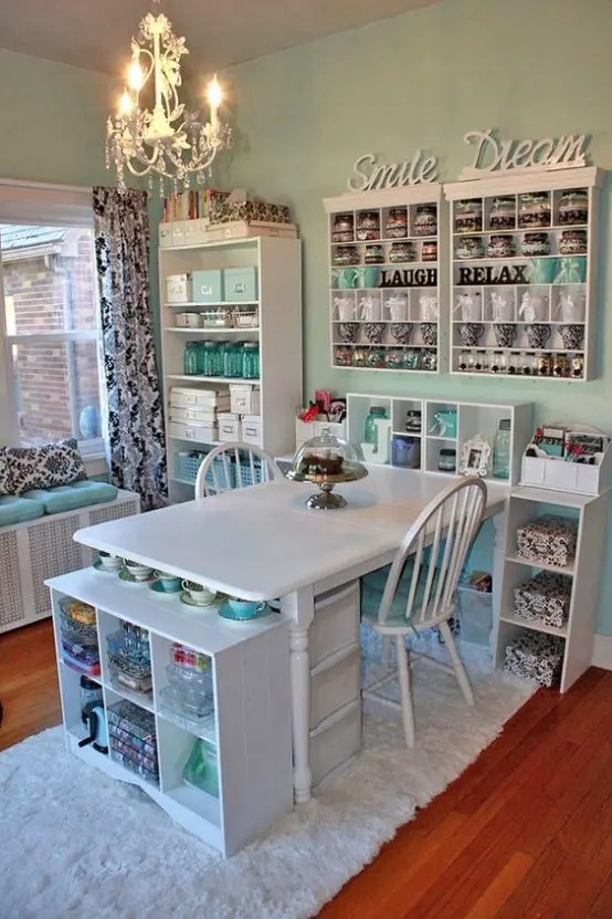 40 Ideas To Organize Your Craft Room In The Best Way DigsDigs