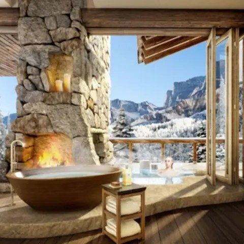 41 Impressive Chalet Bathroom Dcor Ideas DigsDigs