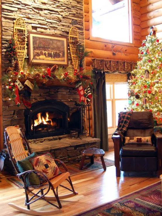 Interior How To Decorate A Fireplace For Christmas Decorating Ideas Naturally