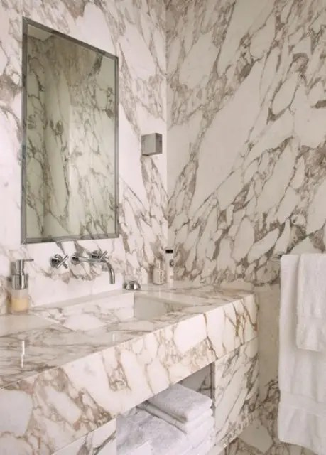 48 luxurious marble bathroom designs - digsdigs