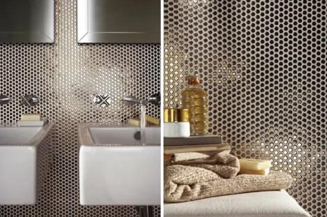 The Hottest Dcor Trend 27 Metallic Tile Dcor Ideas