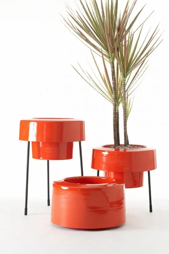 Modern And Colorful Aluminum Planters With Powder Coated