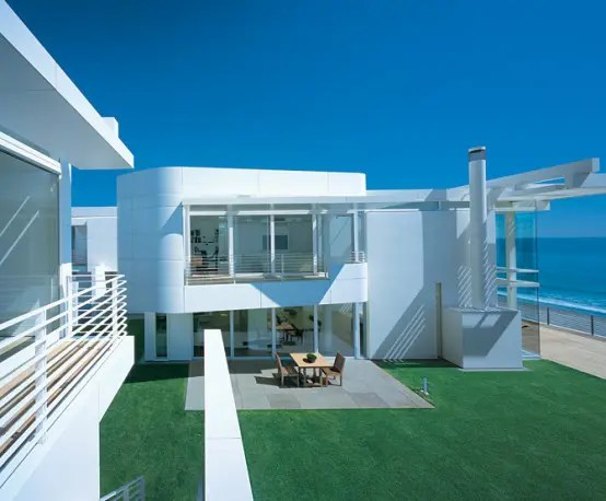 Modern Beach House With White Exterior Paint