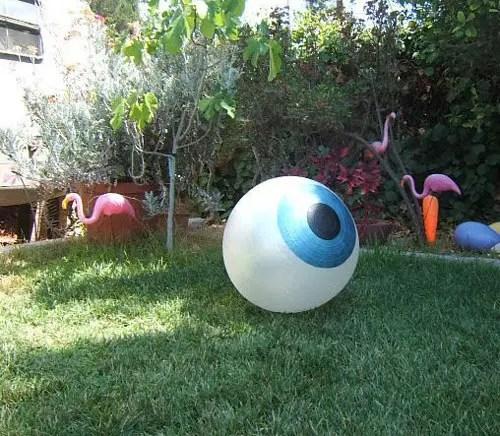 Wacky Halloween Decorations Giant Eye Bouncy Ball Workout Ball Blue Eye Oversized Decor