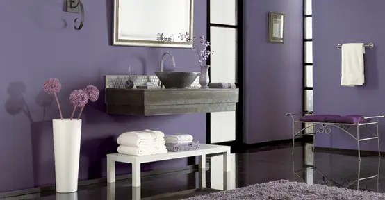 Bathroom Decorating Ideas Purple gray/purple bathroom ideas : brightpulse