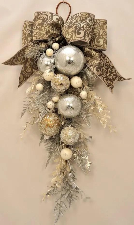 And Christmas Gold Black Burgundy Wreaths