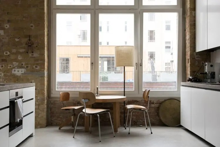 Uncluttered Artists Loft Design In Neutral Colors DigsDigs