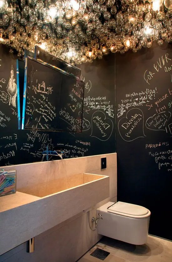 21 Unconventional Chalkboard Bathroom Dcor Ideas DigsDigs