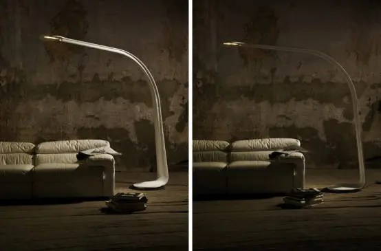 Unusually Shaped Floor Taaac Lamp