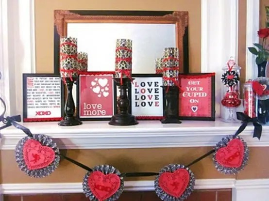 65 Valentines Day Mantel Dcor Ideas DigsDigs