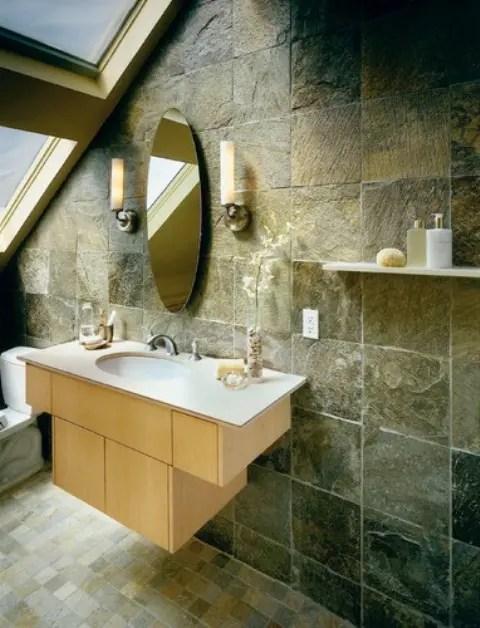 61 wonderful stone bathroom designs