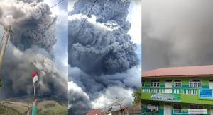 Pagi Ini Gunung Sinabung Kembali Erupsi, Kolom Abu Capai 5 Km