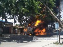 Truk Tangki Pertamina Yang Terbakar di Marelan Angkut 24 KL Pertalite