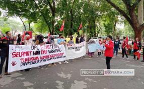 DPC GMNI Geruduk DPRD Sumut Tuntut Tuntaskan Konflik Agraria di Sumut