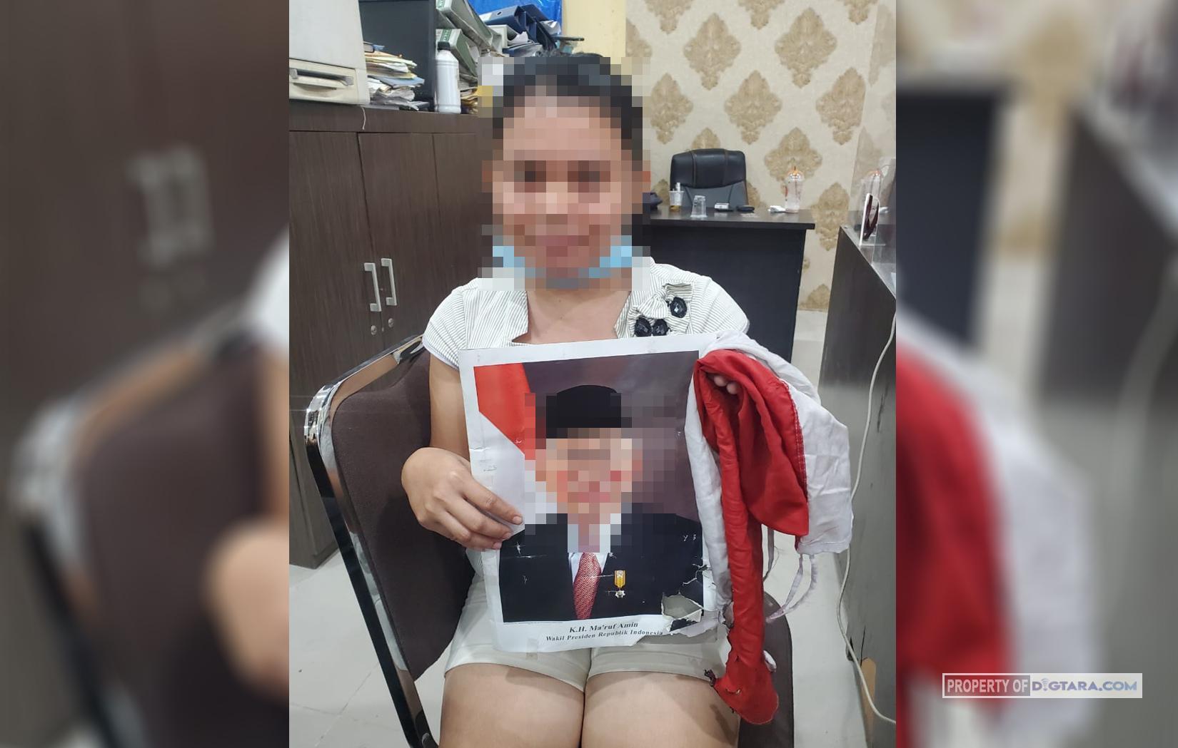 Posting Rusak Bendera dan Foto Presiden, Netizen Ditangkap Polda Sumut Siram Bendera Merah Putih