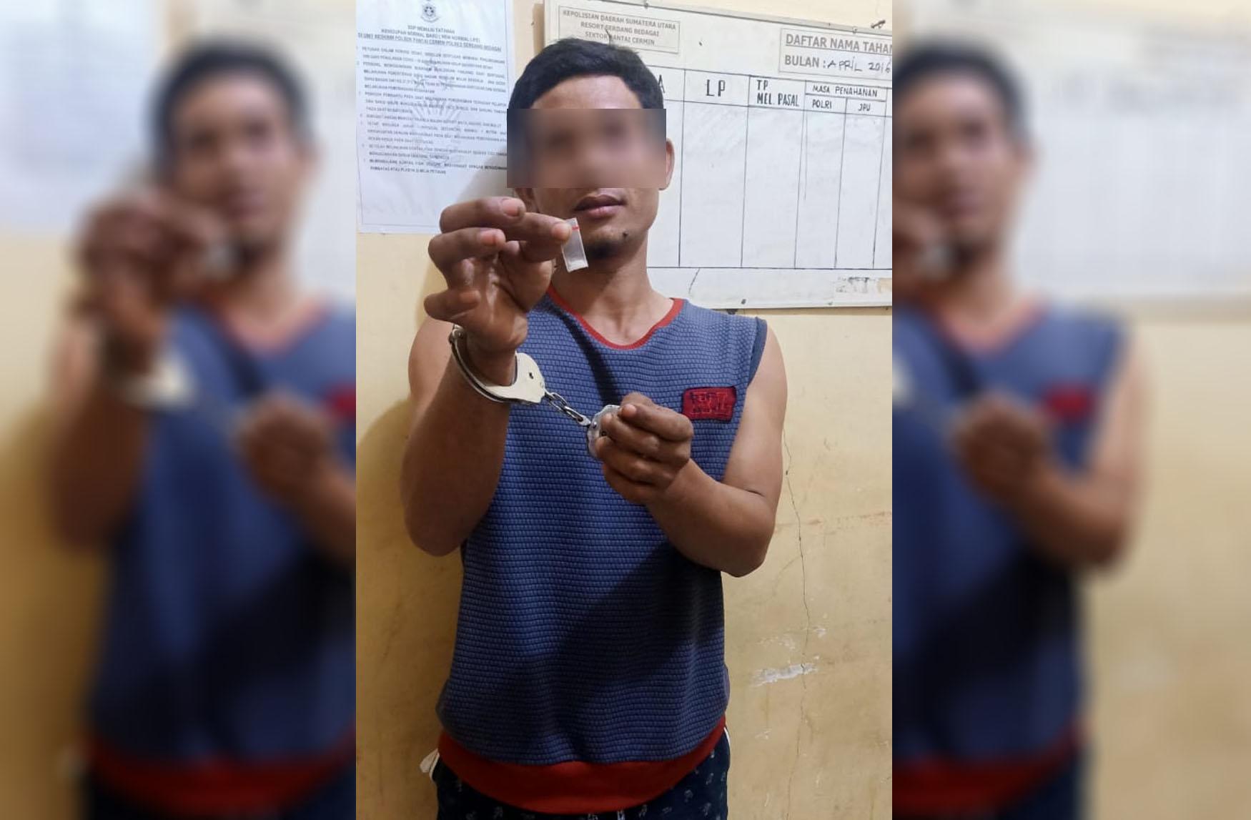 Usai Transaksi Sabu, Pria di Sergai Digrebek Polsek Pantai Cermin