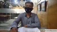 Akhyar-Salman Unggul Enam Angka dari Bobby-Aulia Soal Pelanggaran Kampanye Deni Atmiral saat diwawancara di Caldera Coffee