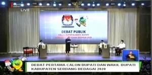 Cawabup Nomor Urut 1 Tak Hadir Debat Kandidat Pilkada Sergai