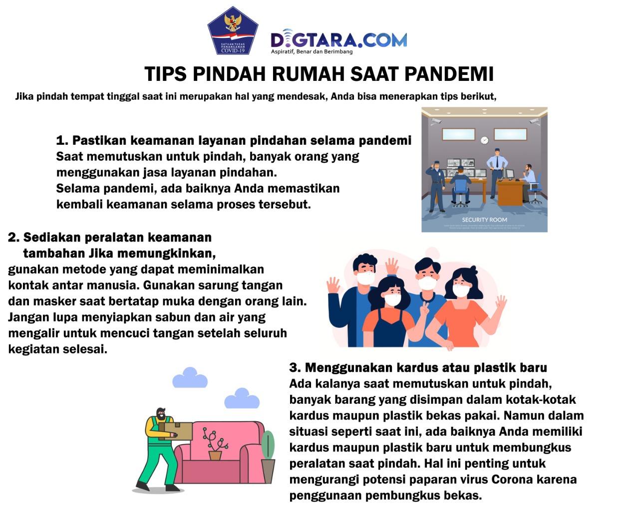 Infografis: Tips Pindah Rumah saat Pandemi
