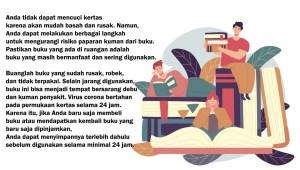 Infografis: Membersihkan Buku saat Pandemi