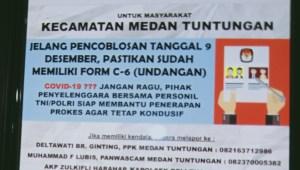 KPU Medan Klarifikasi Poster Bergambar Ajakan Coblos yang Dianggap Ganggu Masa Tenang