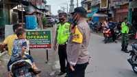 Polres Sergai Bersama Tim Gabungan Sosialisasi Prokes Covid-19 dan Bagikan 1.000 Masker